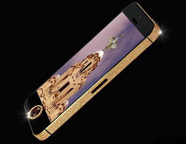 iPhone 5 with Gold and Diamonds