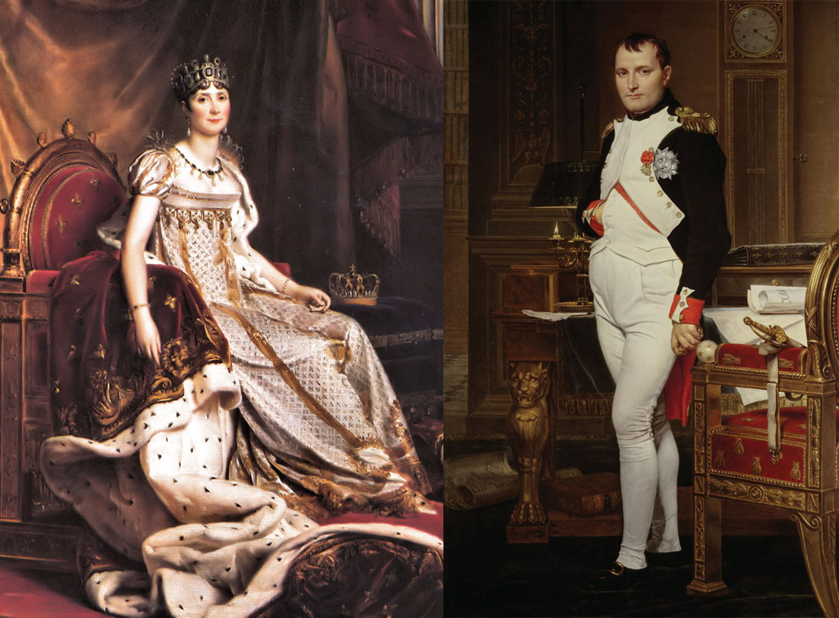 Josephine de Beauharnais and Napoleon Bonaparte