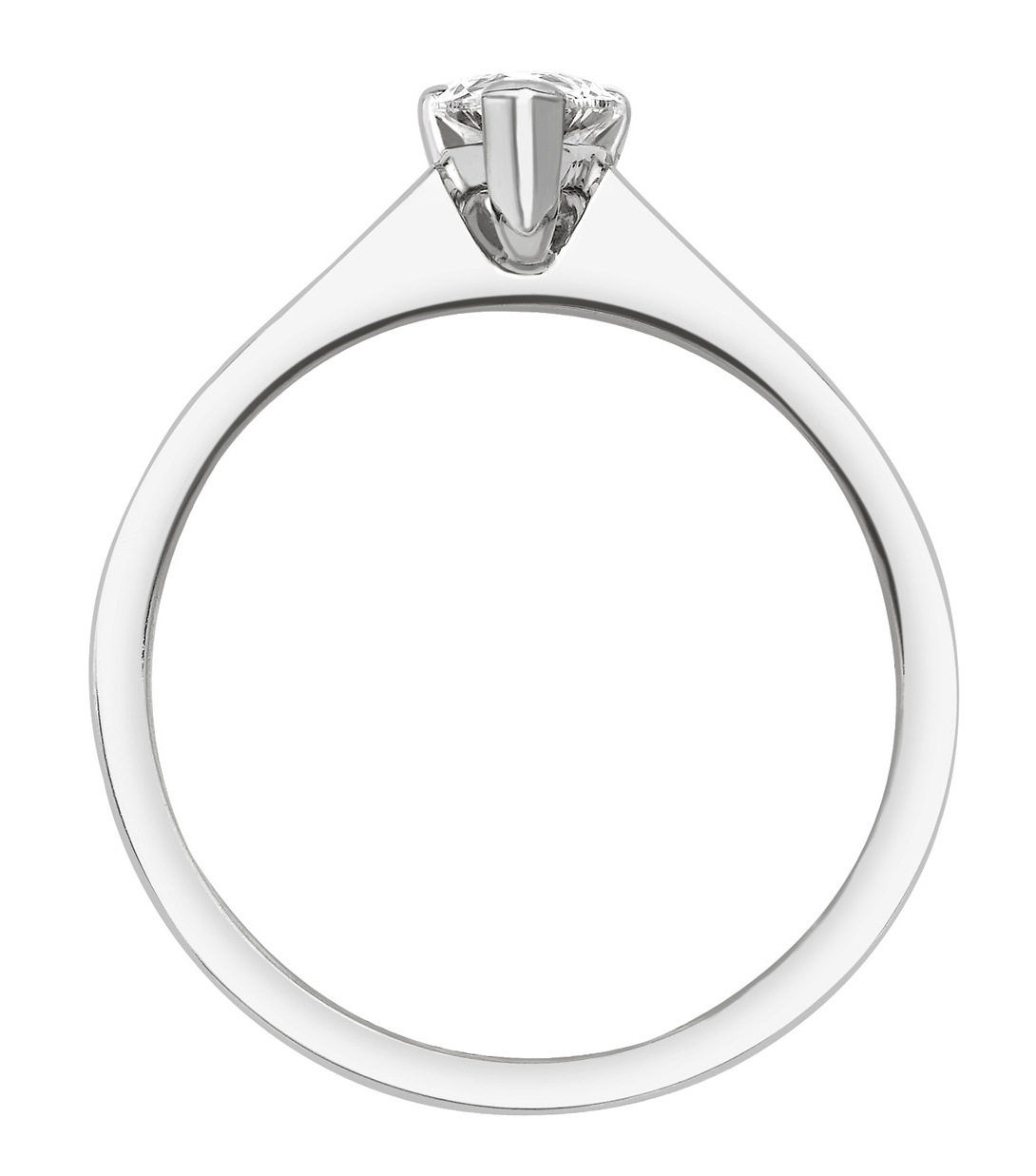 Pear Shape White Gold Ring with Channel Set Shoulders CRC750 Image 2