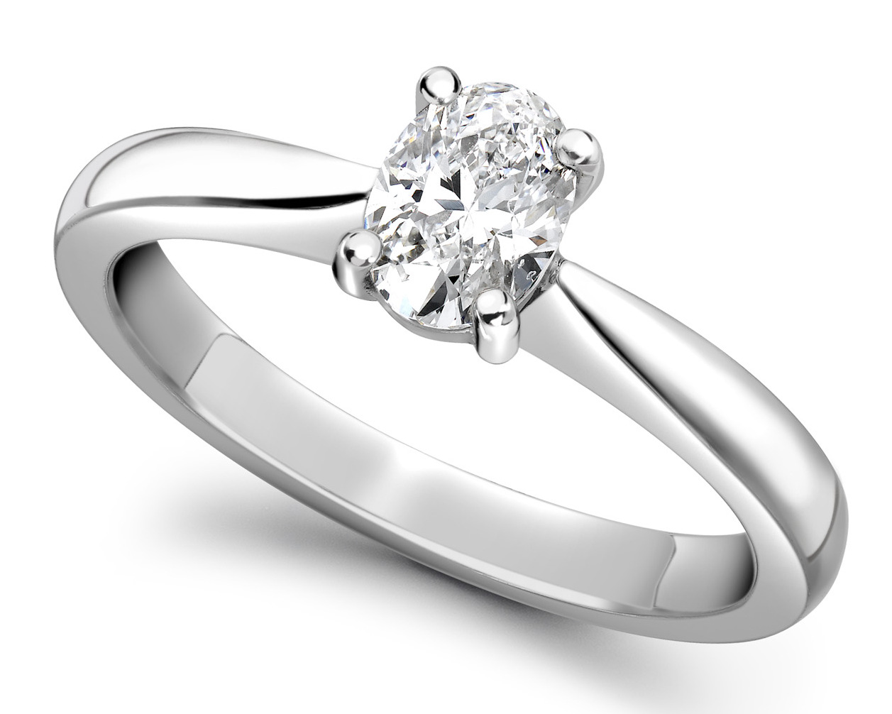 Oval White Gold Diamond Engagement Ring GRC575 Main Image