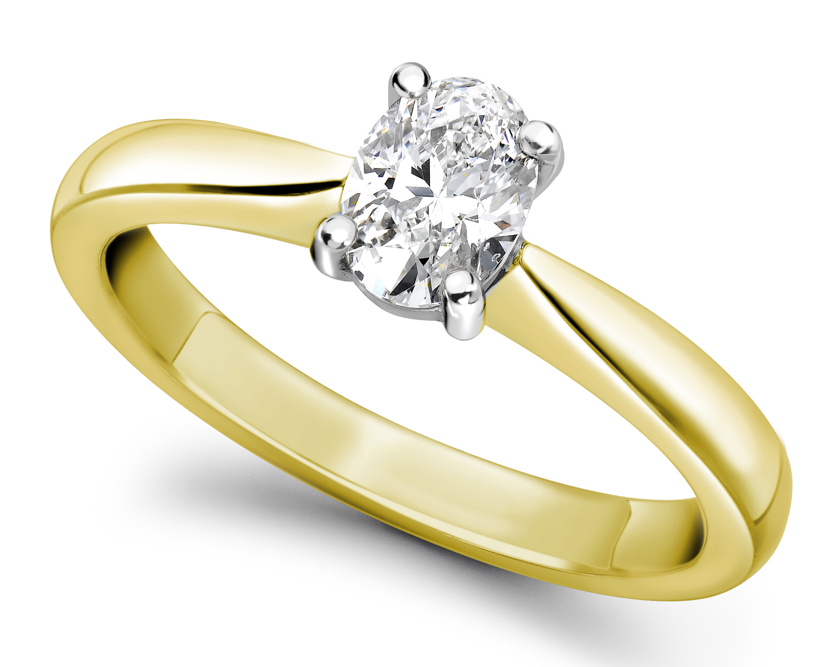 Oval Yellow Gold Diamond Engagement Ring GRC575YG   Main Image