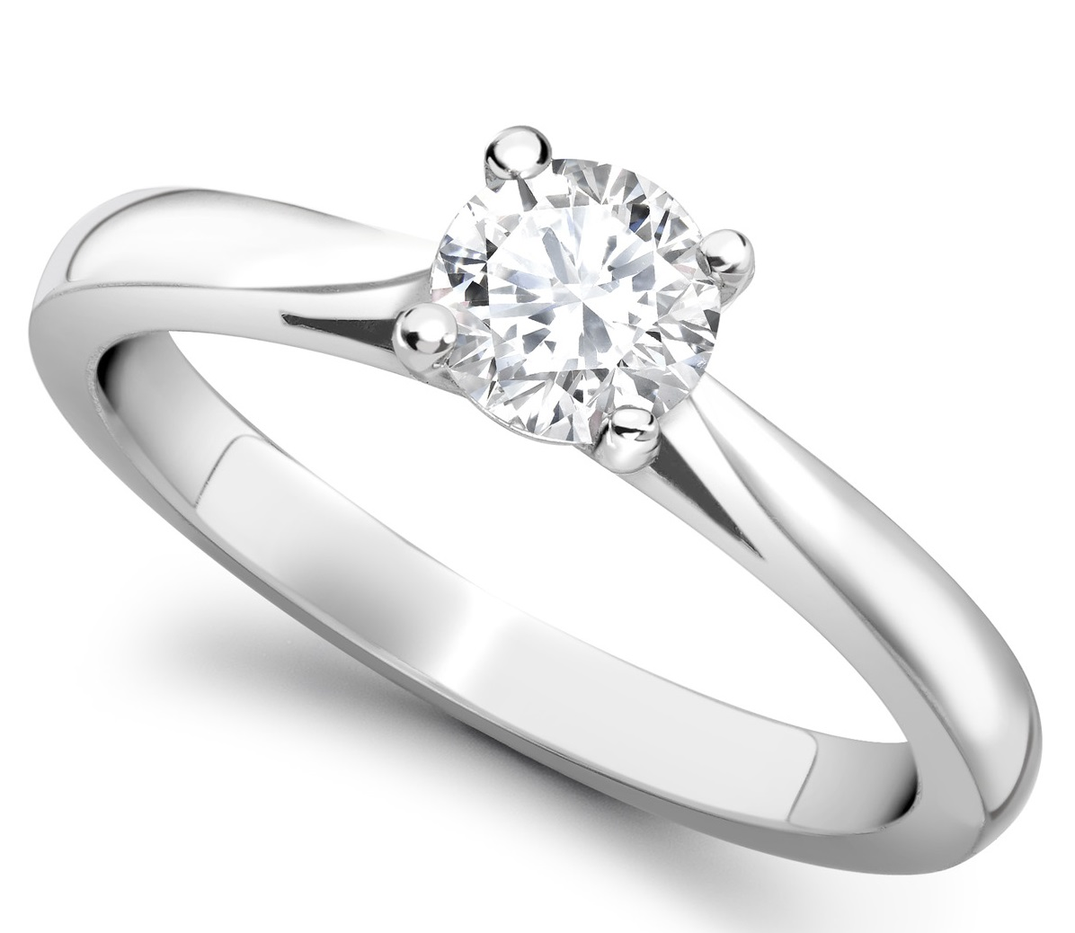 Round 4 Claw Platinum Engagement Ring GRC650PLT Main Image