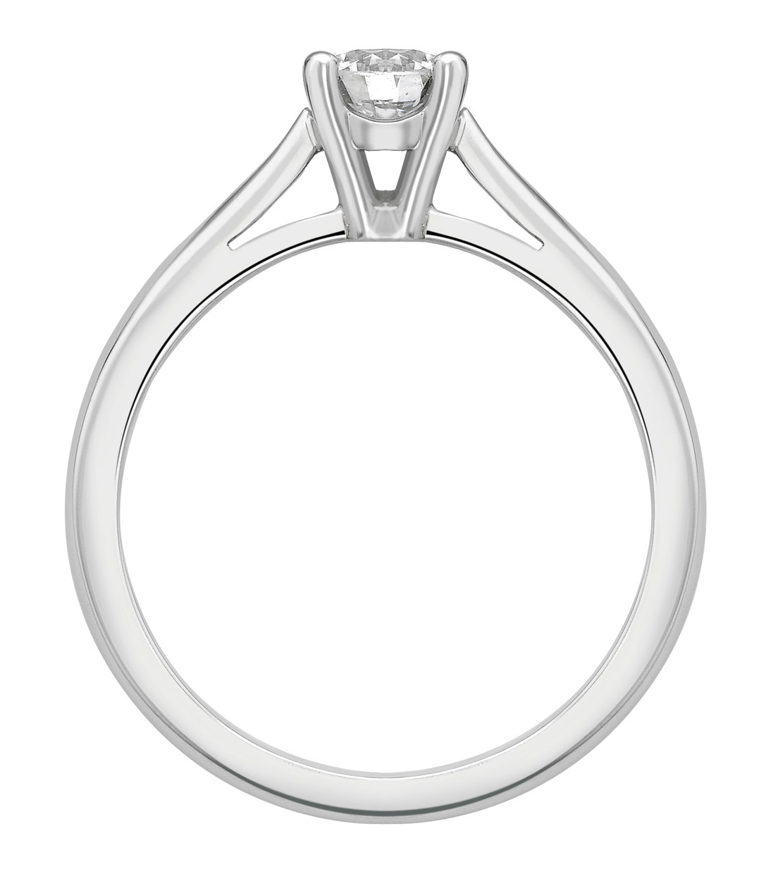 Round 4 Claw Platinum Engagement Ring GRC650PLT Image 2