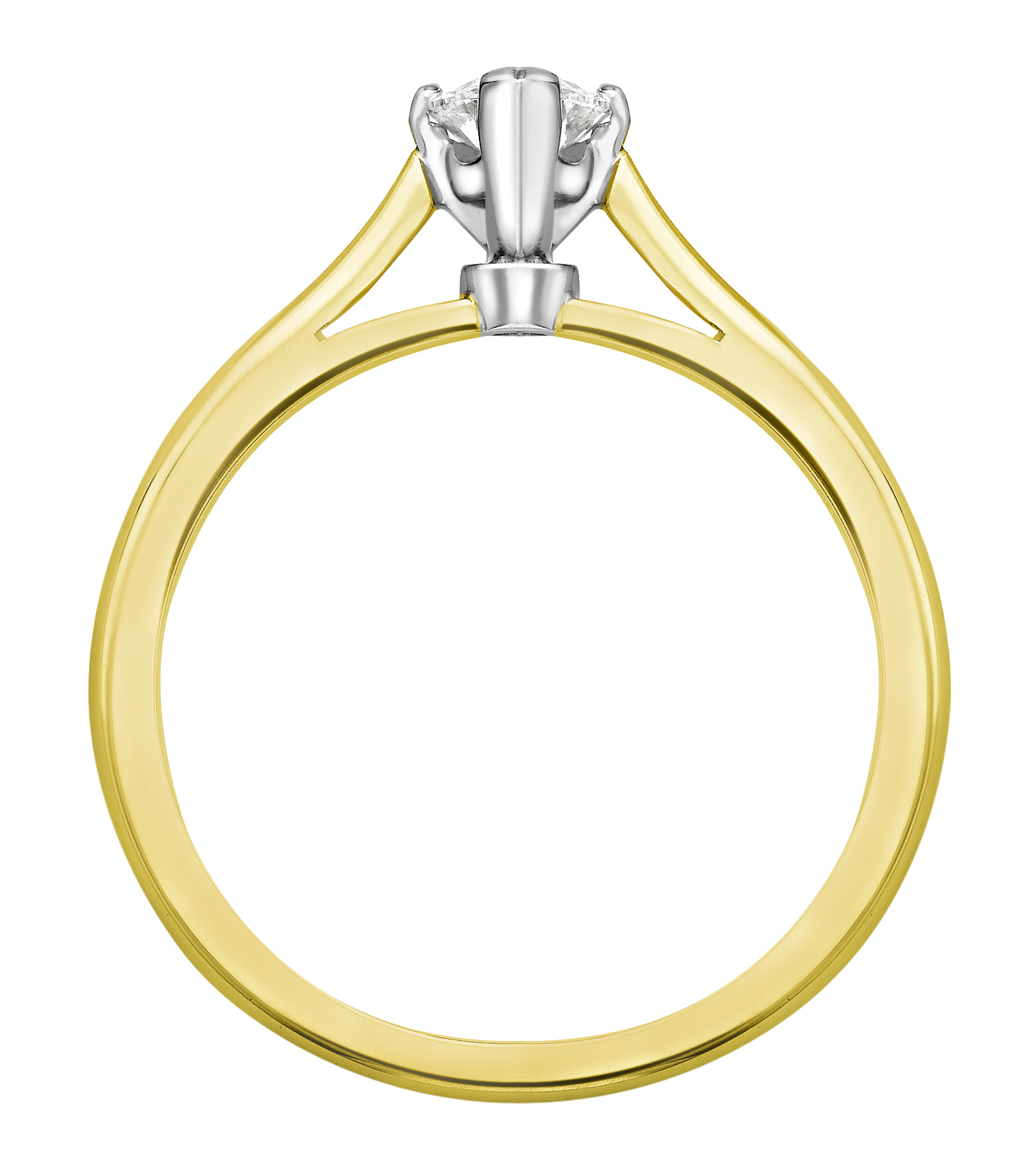 Marquise Cut Yellow Gold Diamond Engagement Ring GRC687YG Image 2