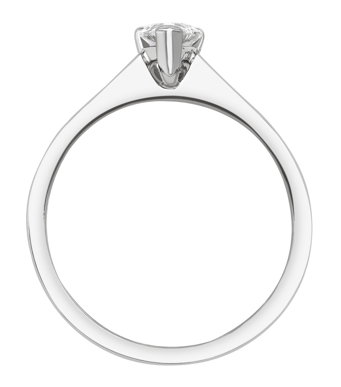 Marquise Cut White Gold Ring with Channel Set Shoulders GRC751 Image 2