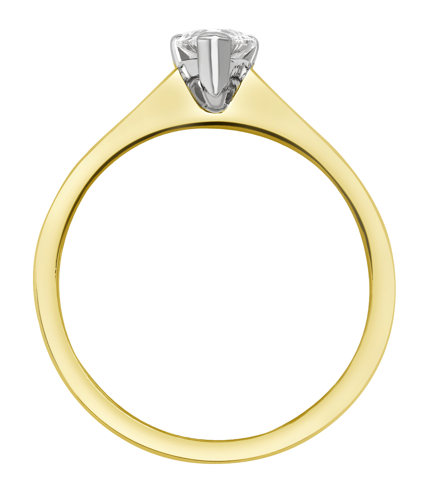 Marquise Cut Yellow Gold Ring with Channel Set Shoulders GRC751YG Image 2