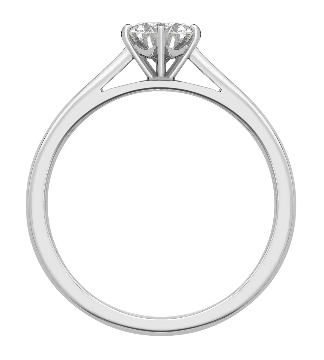 Round Six Claw White Gold Engagement Ring    GRC757 Image 2