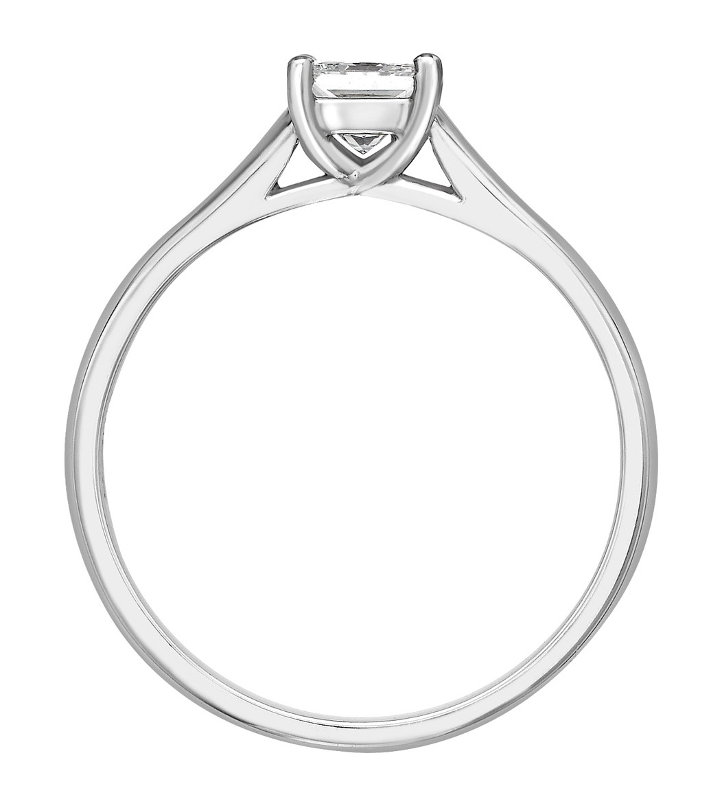 Princess Cut Four Claw White Gold Engagement Ring GRC759 Image 2