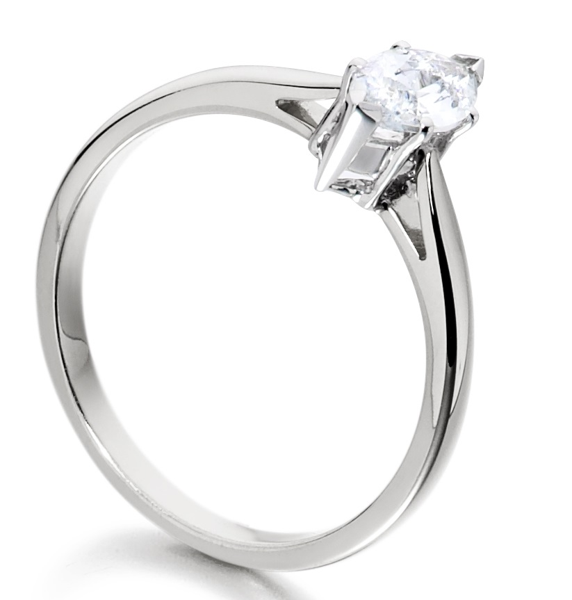 Marquise Cut Platinum Diamond Engagement Ring ICD2402PLT  Image 2