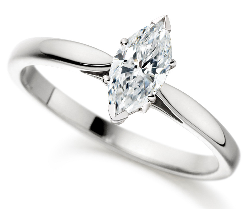 Marquise Cut Platinum Diamond Engagement Ring ICD2402PLT  Main Image