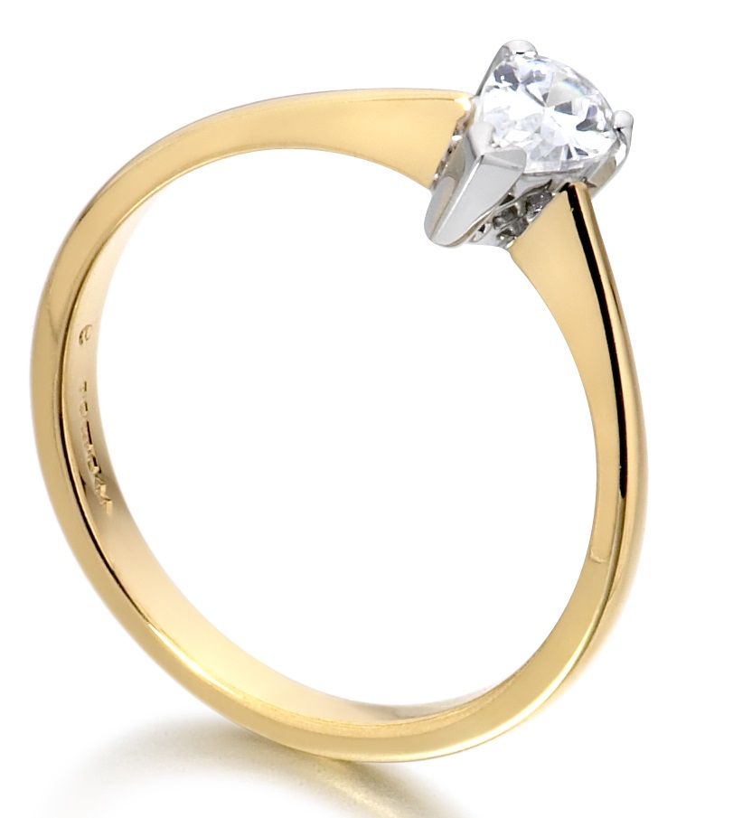 Pear Shape Yellow Gold Diamond Engagement Ring ICD2722 Image 2