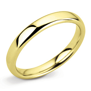 Court 3mm Yellow Gold Wedding Ring Main Image