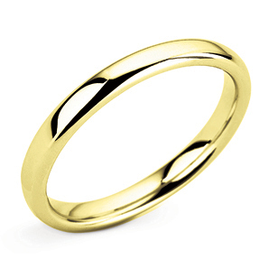 Court 2.5mm Yellow Gold Wedding Ring Main Image