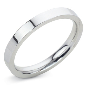 Flat Court 2.5mm Platinum Wedding Ring Main Image