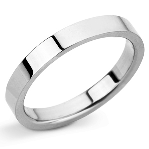 Flat 2mm Platinum Wedding Ring Main Image