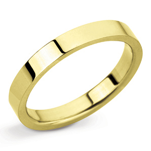 Flat 2mm Yellow Gold Wedding Ring Main Image